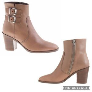 "J. Crew ""Dean"" Double Buckle Ankle Heeled Boots"